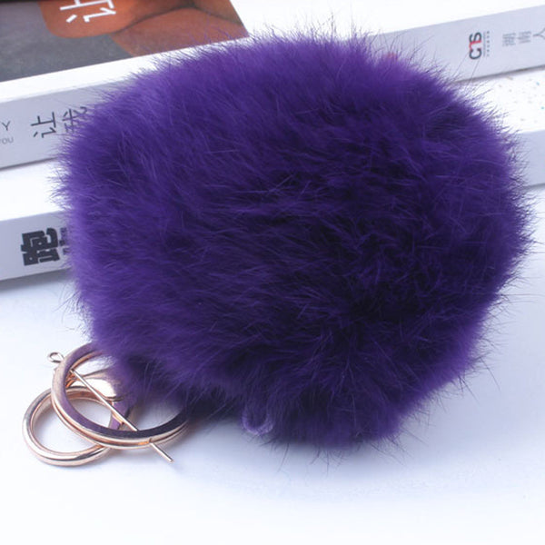 Genuine Rabbit Fur Quality Soft Fur Balls Gold accessories Tag fashion accessories 12 Colors 10cm Big AC0008