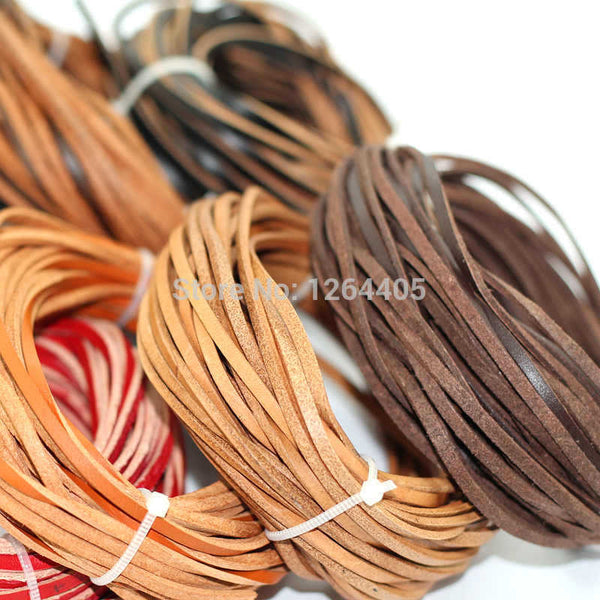 3mm wide leather ,10m/piece  bracelets rope genuine cow leather cord (About 1.5mm Thick)