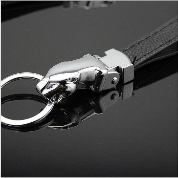 creative jaguar car leather key chain keychain for keys ring holder souvenirs trinket keyring products gift personalized chains