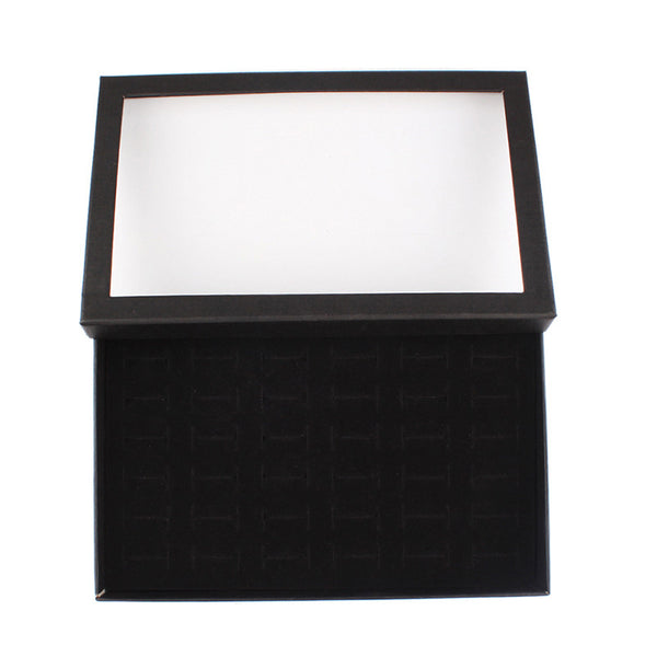 36 Slots Jewelry Organizer Rings Display Show Case Earrings Storage Fashion Jewellery Boxes And Packaging For Women #57900