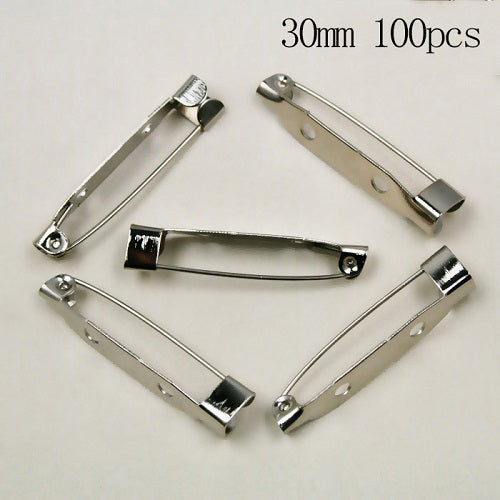 60-150Pcs Brooch Back Safety Catch Bar Pins Jewelry Findings Accessories basis for brooches Assorted Sizes to pick (FZC)