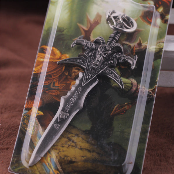 Warcraft Sword Keychain The World of Warcraft Chaveiro Key Holder Sword Collection Best Gift for WOW fans Jewelry