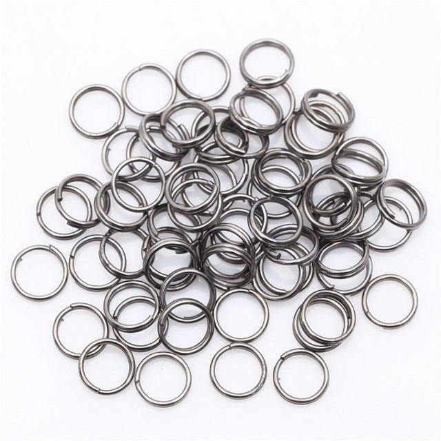 Wholesale Gold Silver Plated Metal Fishing Split Rings Findings Key Rings 10mm 4mm 5mm 6mm 7mm 8mm 10mm 12mm  for Jewelry Making