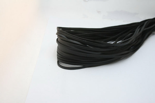 Black 1M 3mm Flat Faux Suede Korean Velvet Leather Cord string Rope Thread Jewelry Findings FXU004-01BK