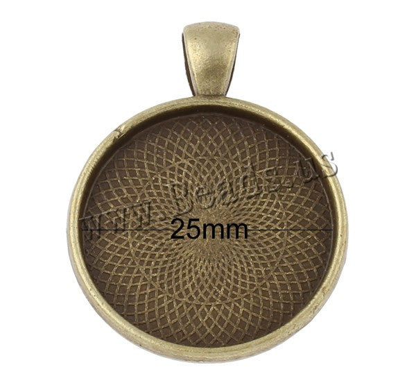 1pc 28mm antique bronze Color plated necklace pendant setting cabochon base Tray bezel blank jewelry making findings