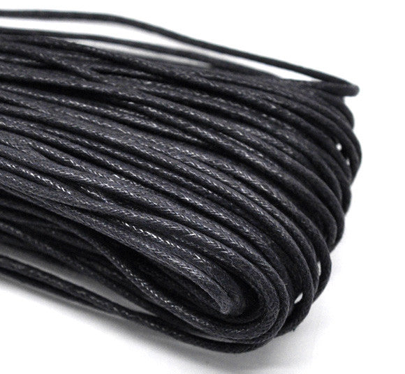 "DoreenBeads Wax Rope Jewelry Rope Black 2.0mm ( 1/8""), 5 M 2015 new"