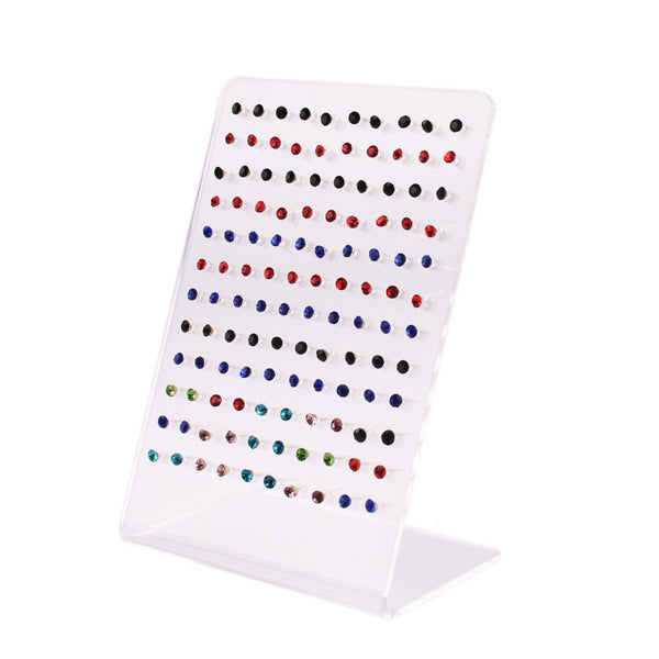 120 Holes White Jewelry Display Earrings Ear Stud Holder Organizer Women Jewellery Display Rack Stands Showcase Exhibidor #46677