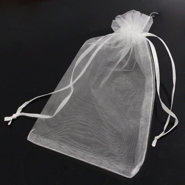 MJARTORIA 100PCs 10x15cm Organza Gift Bags & Pouches Drawstring Jewelry Packaging Bags For Wedding Christmas Gift Lovely Beads