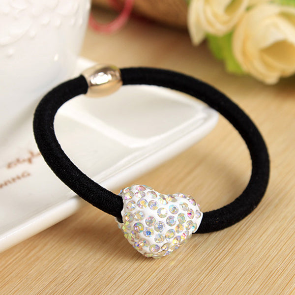 Fashion Women Elastic hair bands with Rhinestones Ball Lovely Gift for Women Girl Hair Accessories 1 piece