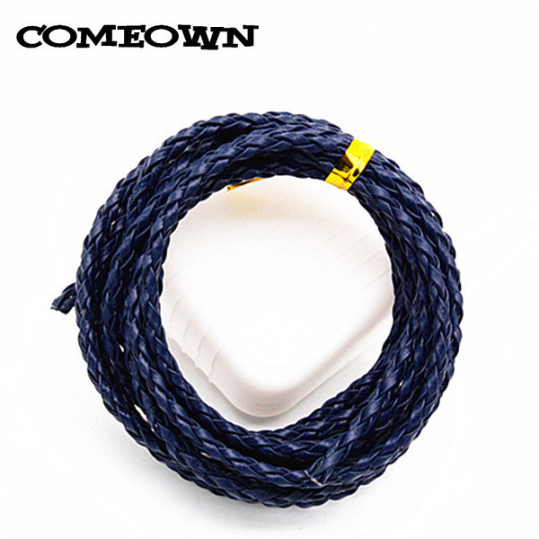 5Meters 3mm Jewelry DIY Black/White/Brown/Mixed Colors Round PU Braided Leather Cords Making Necklace Bracelets Cords