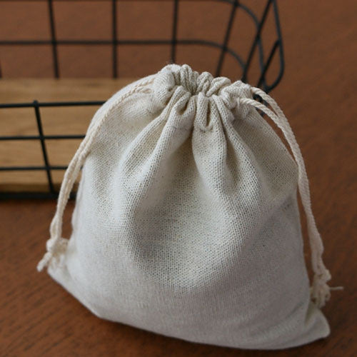 "Cotton Linen Gift Bag 10x15cm(4""x6"") Birthday Party Wedding Favor Holder Neckalce Bracelet Bangle Jewelry Muslin Packaging Pouch"