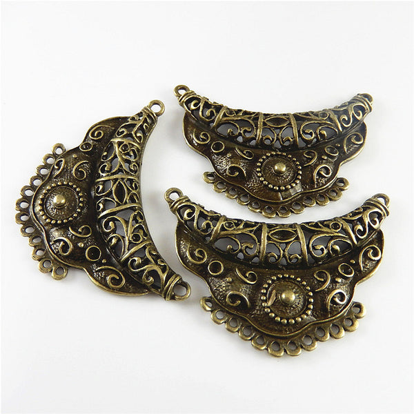 GraceAngie 3pcs Antiqued Style Bronze Tone Alloy Fashion Charm Connector Decor Jewelry AccessoriesHot  63*44mm 03160