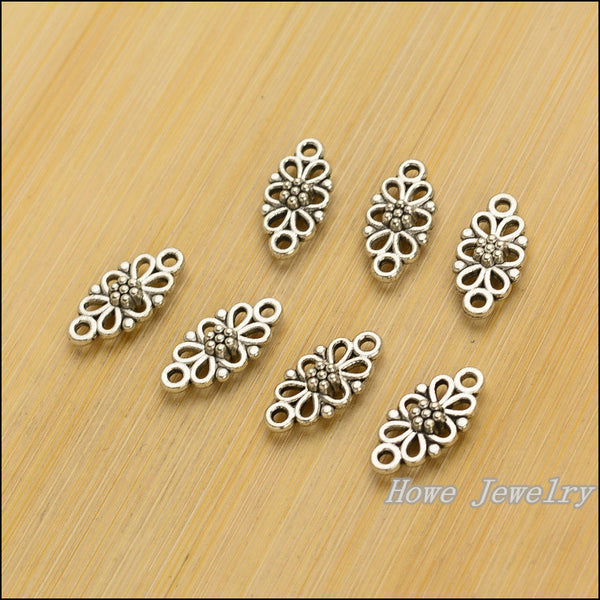 50 pcs Vintage zinc alloy charms Connector pendant DIY Bracelet Necklace metal jewelry accessories Making