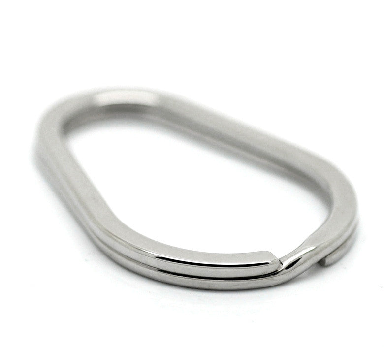 3PCs High Quality Silver Tone Stainless Steel Split Rings Key Rings 4cm x 2.8cm HOT Sale New Arrival Accessories For Women Men