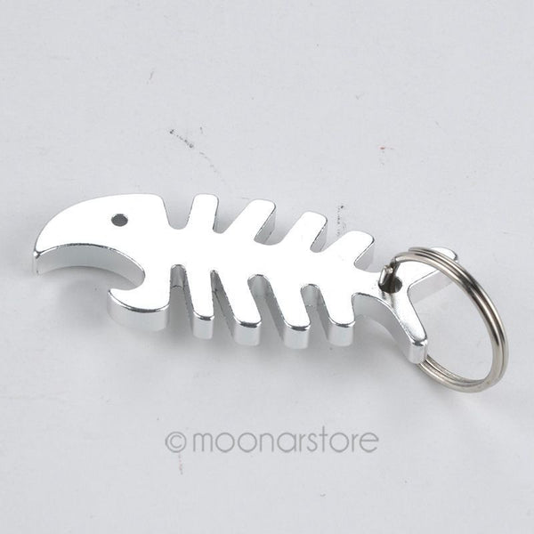 Key Ring Key Chain Alloy Cool Fish Bone Beer Bottle Opener Keychain Accessories Unique Gifts for Christmas Y50*MHM748#M5