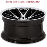 Ferrada FR2 - Machine Black / Chrome Lip | Offered by CedarPerformance