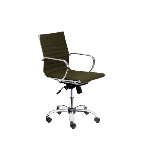 Winport Mid-Back Fabric Swivel Armrest Office Desk Chair SW-7912F