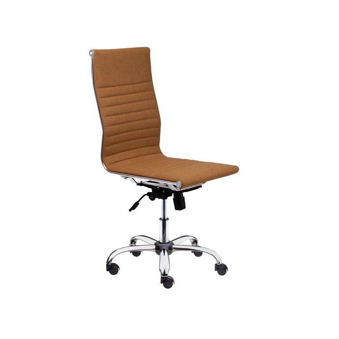 Winport High-Back Executive Armless Fabric Swivel Office & Home Desk Chair SW-7910F