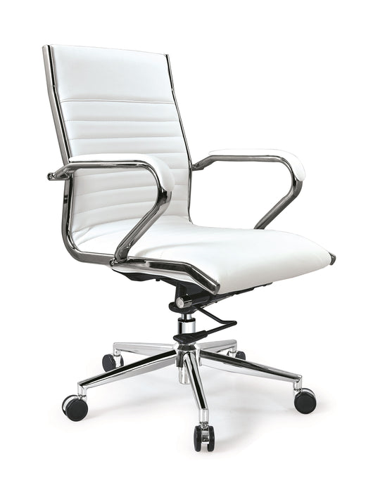 Lily Mid-Back Executive Leather Swivel Armrest Office & Home Desk, Task  Chair AB-145B-1