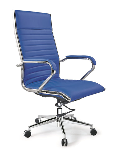Licol High-Back Executive Leather Office, Reception Desk Chair AB-145B