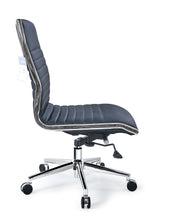 Lily Mid-Back Executive Leather Swivel Armless Office & Home Desk, Task Chair AB-145W