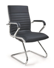 Licol Mid-Back Executive Leather Office Guest, Reception Desk Chair AH-145B-1