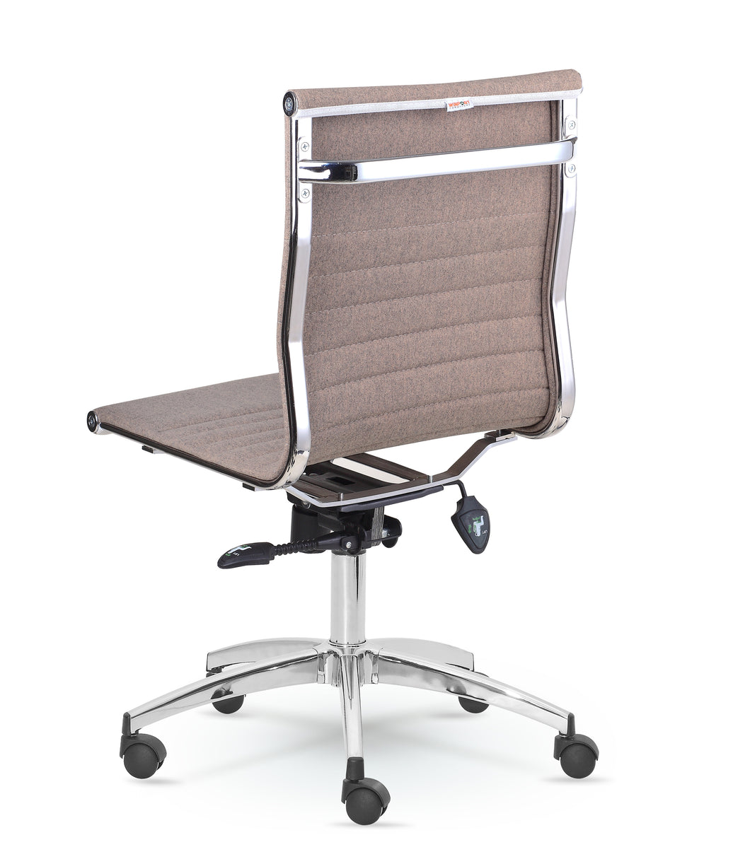 Winport Mid Back Fabric Armless Swivel Conference Chair Dy