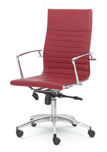 High-Back Executive Leather Swivel Office & Home Desk, Task Chair 9711L