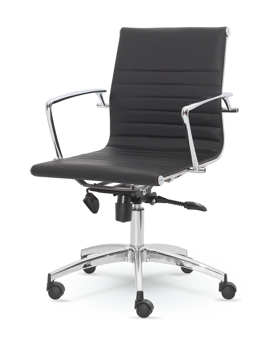 Winport Mid-Back Executive Leather Swivel Office, Home Desk, Task Chair DY-9712KM