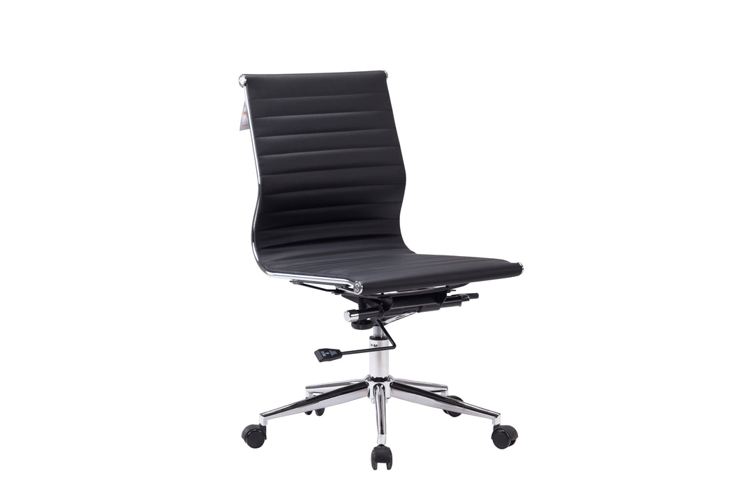 Winport Mid-Back Leather Armless Office Chair NF-6002MWA