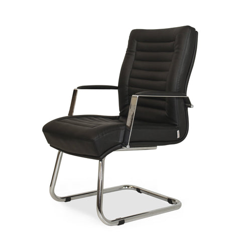 Winport Prestige Mid-Back Leather Guest Office Chair PR-5754M (Black)