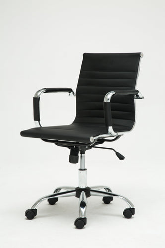 Winport Mid-Back Leather Swivel Conference Office Chair TB-1963