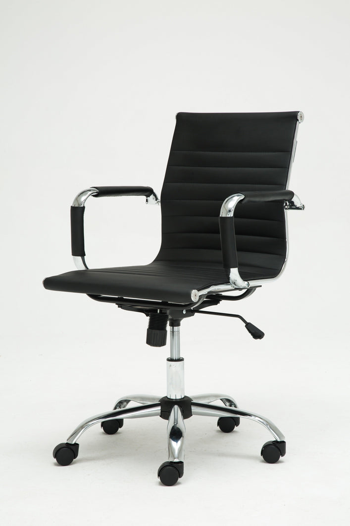 Winport Mid-Back Leather Swivel Conference Office Chair 1963