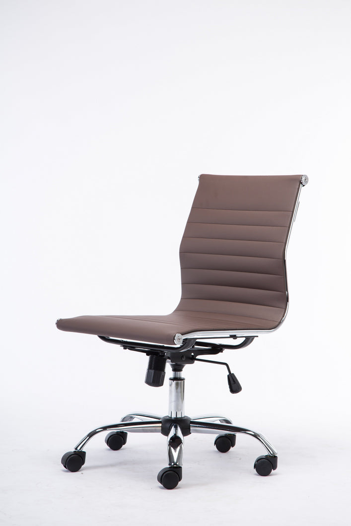 Winport Ergonomic Mid-Back Leather Armless Desk Office Conference Chair 4444