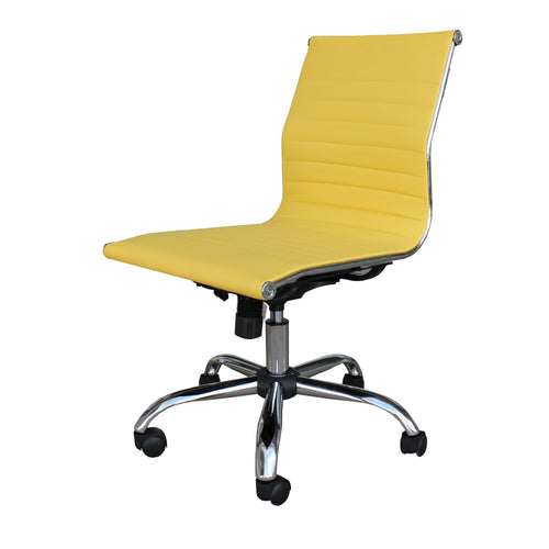 Winport Mid-Back Leather Armless Office & Computer Desk Chair TB-6160