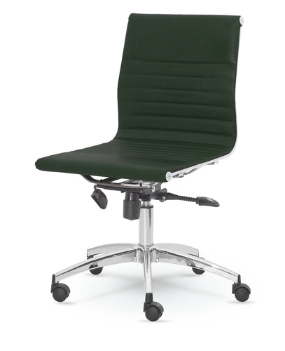 Winport Mid-Back Leather Armless Swivel Conference Chair  DY-8712KM