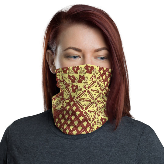 African Fabric Print Neck Gaiter Face Mask