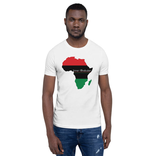 Inner Alkebulan™ RGB Africa Short-Sleeve Cotton T-Shirt