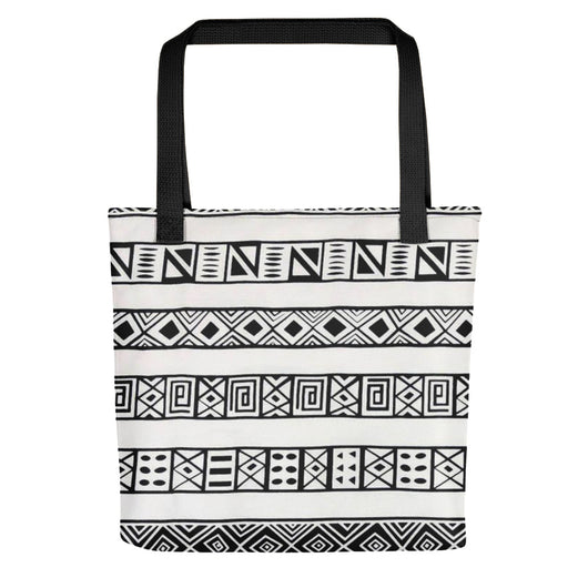 Bold Graphic African Print Tote Bag