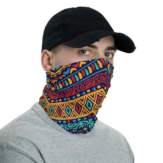Ethnic Print Neck Gaiter Face Mask