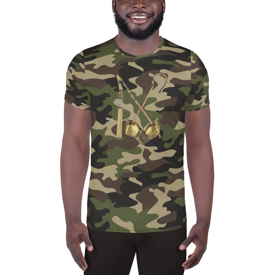 Inner Alkebulan™ Camouflage Crook & Flail Men's Athletic T-shirt
