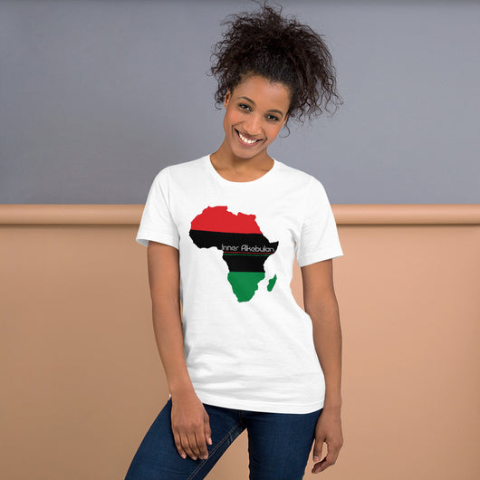 Inner Alkebulan™ RGB Africa Short-Sleeve Unisex Cotton T-Shirt
