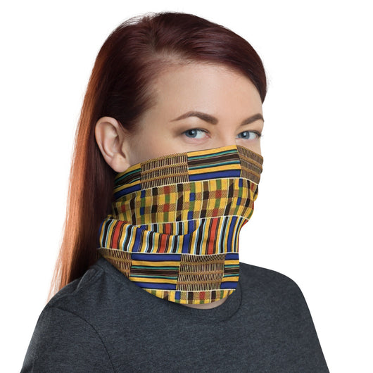 Kente Cloth Neck Gaiter Face Mask
