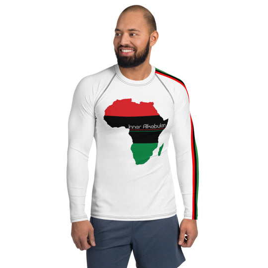 Inner Alkebulan™ RBG Africa Men's Rash Guard Base Layer
