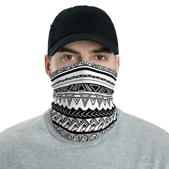 Tribal Print Neck Gaiter Face Mask