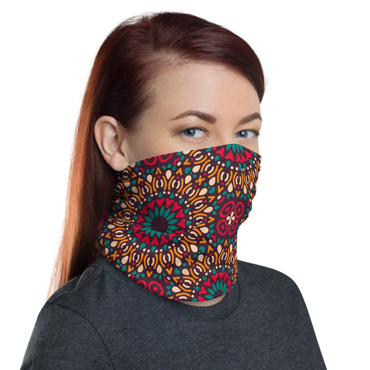 Mandala Pattern Neck Gaiter Face Mask