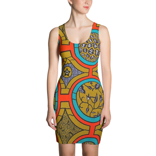 Inner Alkebulan™ African Print BodyCon Dress