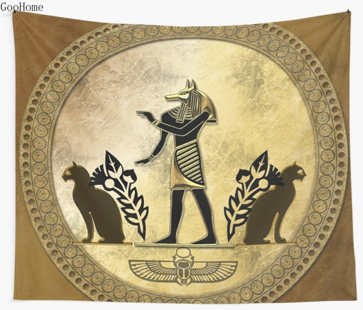 Egyptian God Anubis Wall Tapestry