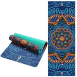 Thick, Lotus Patterned Suede Yoga Mat!!