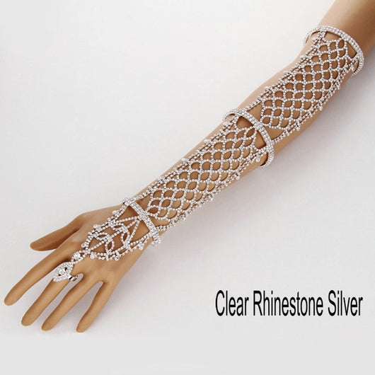 Crystal Rhinestone Finger/Arm Chain